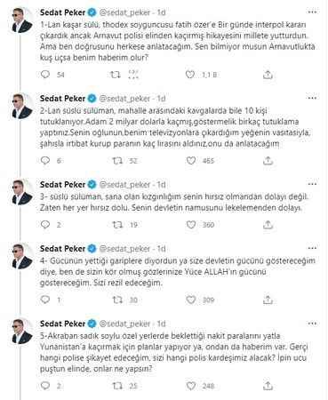 Sedat Peker'den Soylu'ya gündemi sarsacak Thodex vurgunu suçlaması