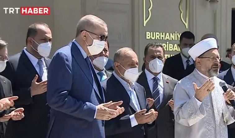 Erdoğan, restorasyonu yapılan Şehriban Hatun Camii'nde konuştu