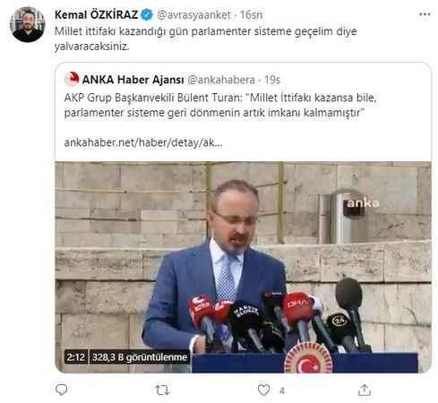 Ünlü anketçiden AKP'li isme parlamenter sistem yanıtı: Yalvaracaksınız
