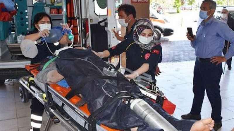 Sivas'ta inşaattan düşen işçi ağır yaralandı