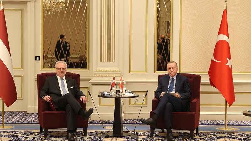 Cumhurbaşkanı Erdoğan, Letonya Cumhurbaşkanı ile görüştü