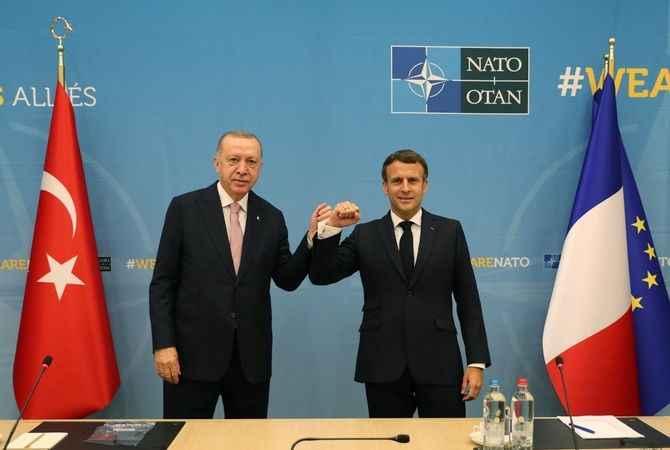 Son Dakika! Erdoğan, Macron ile görüştü