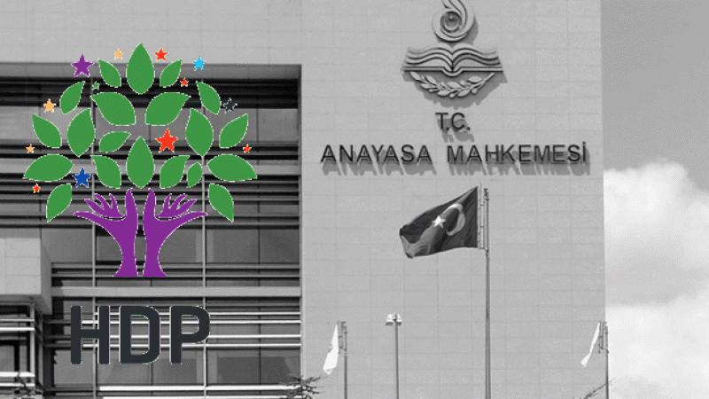 Son dakika: AYM, HDP iddianamesini genel kurulda kabul etti