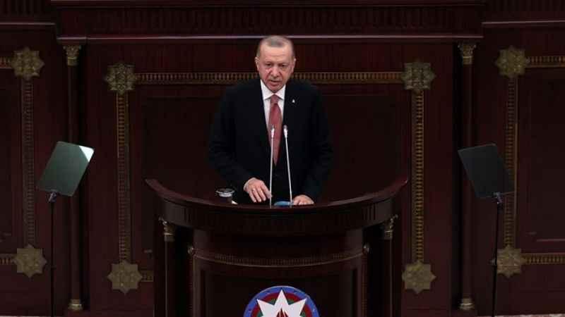 Erdoğan: Dünya bilsin ki yarın da Azerbaycan'ın yanında olacağız