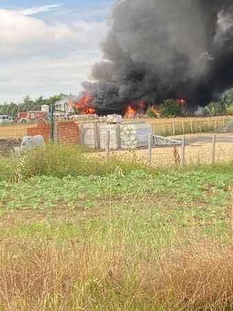 Çatalca'da meyve suyu fabrikasında yangın!