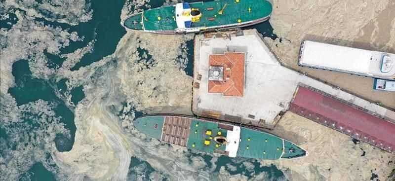 Deniz salyası Gökçeada'da görüntülendi