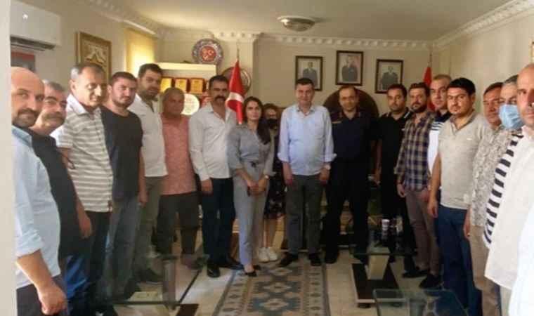 Jandarma komutanından tepki çeken görüntü: MHP ziyareti rahatsız etti