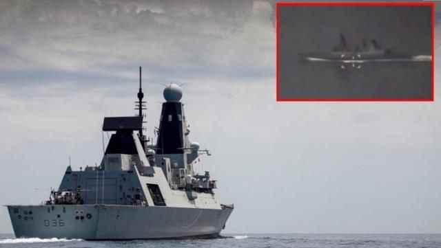 Rusya, İngiliz savaş gemisinin görüntülerini yayınladı