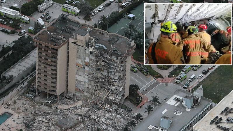 Miami'de çaresiz bekleyiş sürüyor! 99 kişi enkaz altında..