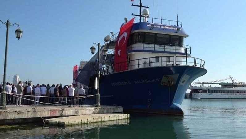 CHP gemisi Samsun'dan yola çıktı