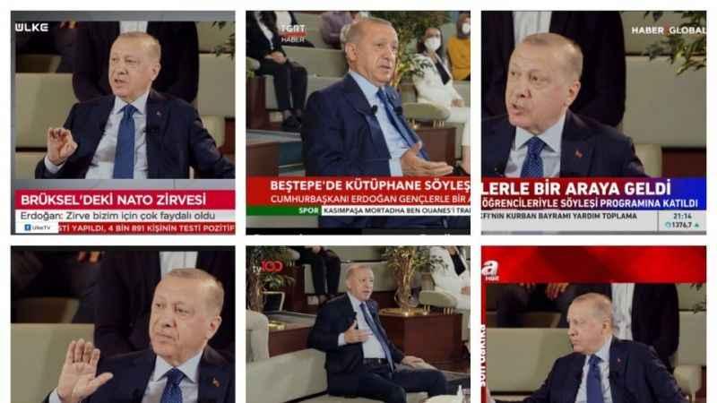 Erdoğan'ın 'Kütüphane Söyleşisi' televizyonları esir aldı!
