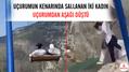 Uçurumun kenarında sallanan iki kadın uçurumdan aşağı düştü
