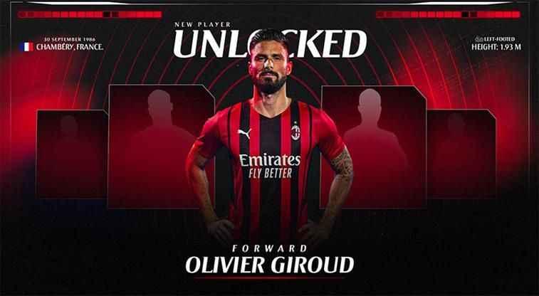 Milan, Olivier Giroud'u açıkladı