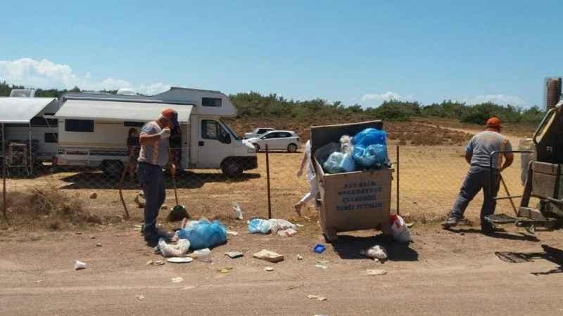 70 bin nüfusu olan ilçeden 240 ton çöp çıktı