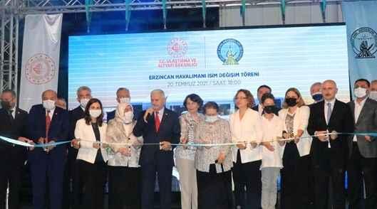 Erzincan Havalimanı'na eski başbakanın ismi verildi