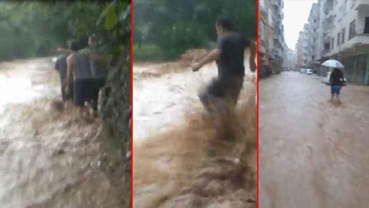 Rize'de yeni sel felaketi! Dereler taştı, yollar kapandı...