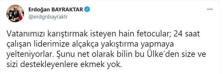Erdoğan'ı hedef aldığı iddia edilmişti! Bayraktar'dan yeni paylaşım