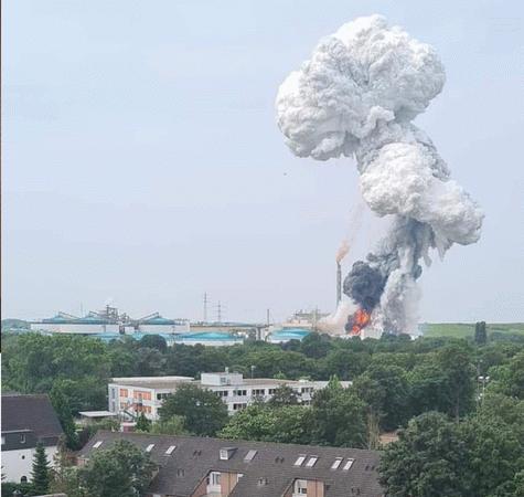 Almanya'da kimya tesisinde patlama! Evden çıkmayın çağrısı...