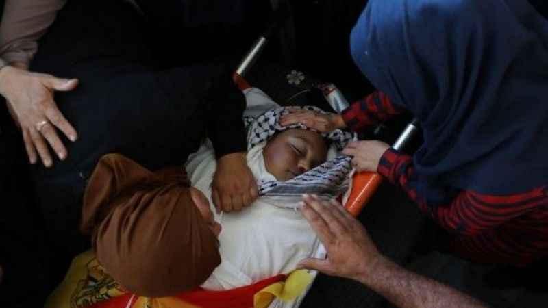 Şehit edilen Filistinli çocuk toprağa verildi