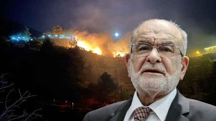 Karamollaoğlu'ndan yangın açıklaması Kasıt var mı araştırılsın