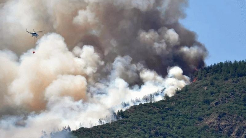 Bir orman yangını daha! Bu kez de Marmaris yanıyor