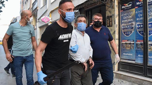 Polisleri vurmakla tehdit eden şahıs 3 saat sonra gözaltına alındı