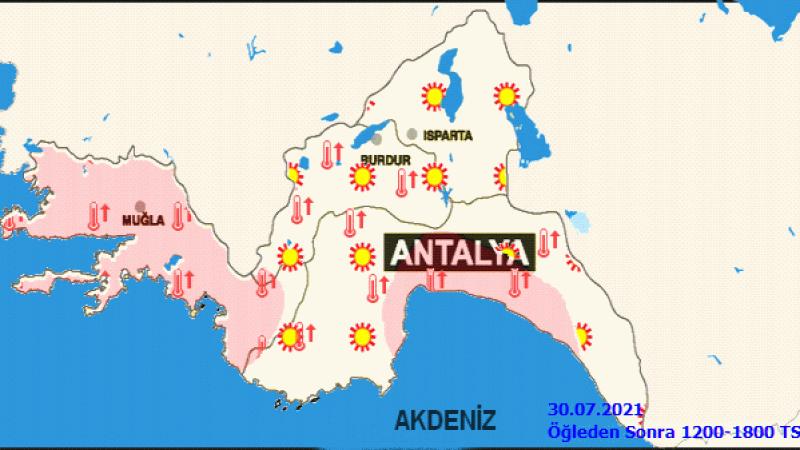 Meteoroloji uyardı! Akdeniz'de sıcaklık mevsim normalinin üstünde!