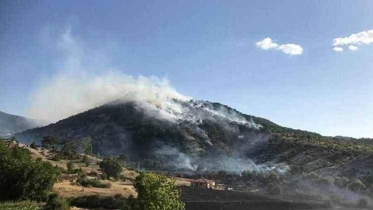 Kızılcahamam'da çıkan yangın kontrol altına alındı
