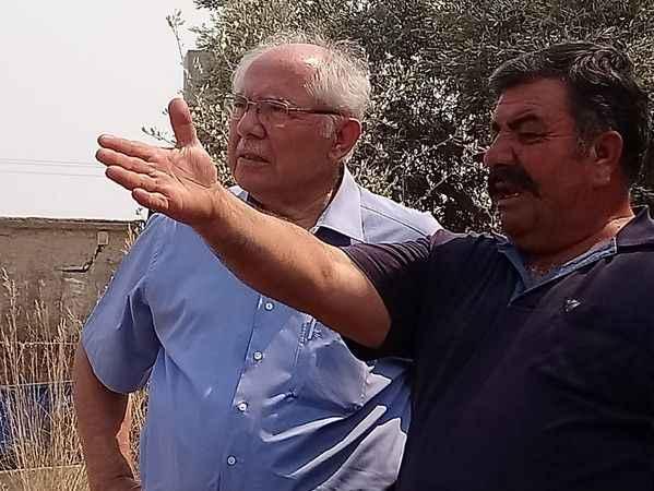 Saadet Partisi heyeti yangın bölgesinde