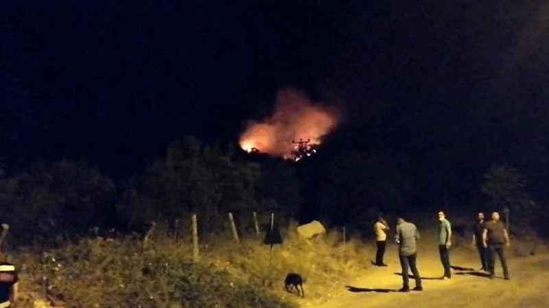Soma'da orman yangını başladı, 8 arazöz müdahale ediyor