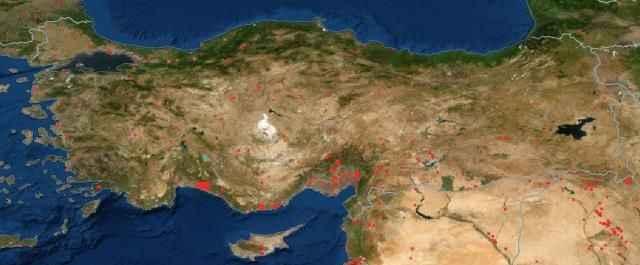 Orman yangınları NASA'nın uydu görüntülerinde tespit edildi