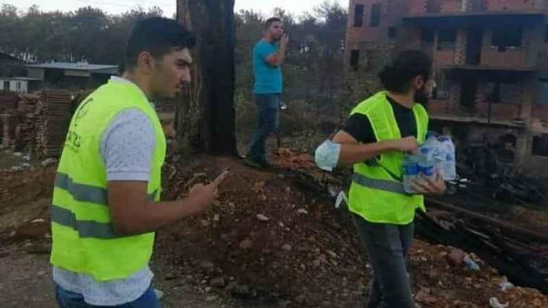 Cansuyu'ndan yangın mağdurlarına yardım