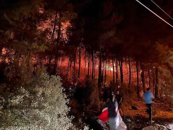 Muğla'nın Fethiye ilçesinde orman yangını başladı