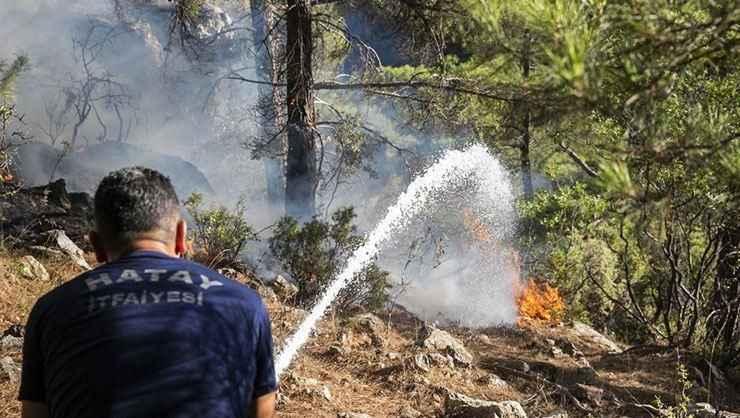 Mersin'de orman yangınında görevli itfaiye aracı ile kamyon çarpıştı