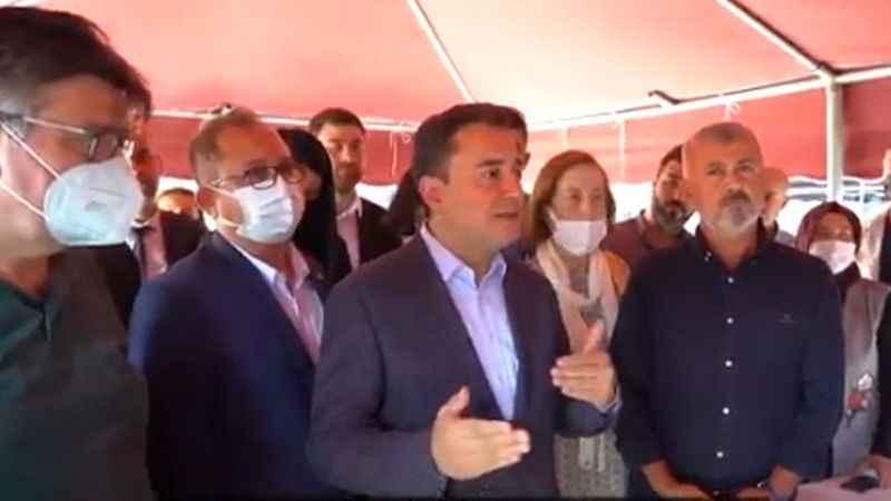 Ali Babacan'dan yangın yerinde AKP'ye sert tepki!