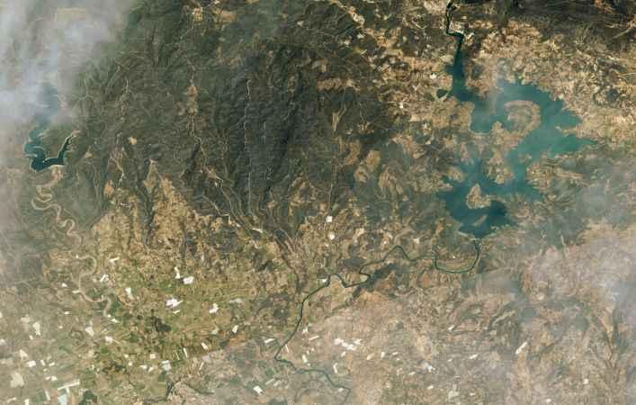 Uzaydan böyle görüldü! Milli uydulardan Manavgat ve Marmaris