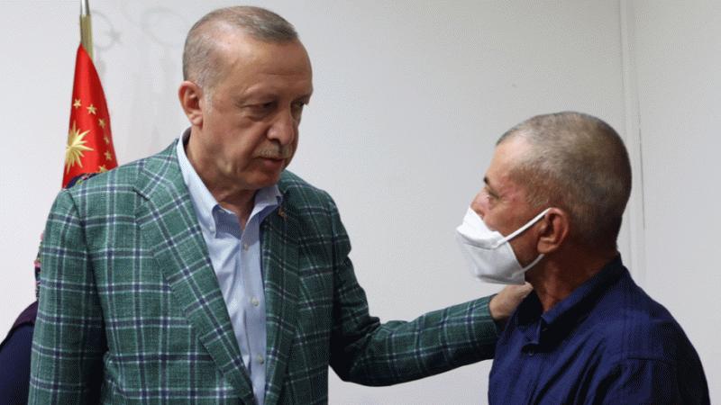 Erdoğan Şahin Akdemir'in babasını taziye için ayağına mı çağırdı?