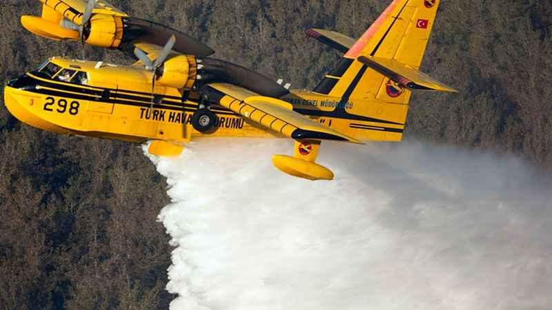 THK'ya bağlı kurum paylaştı: İşte filosundaki yangın söndürme uçakları