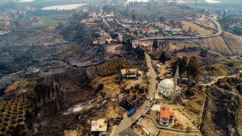 Manavgat yangınının etkisi haritada görüldü!