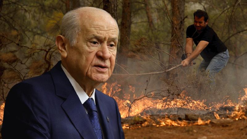 Bahçeli'den yangın yorumu: Dış işgal cephesi yangın kapısını zorluyor