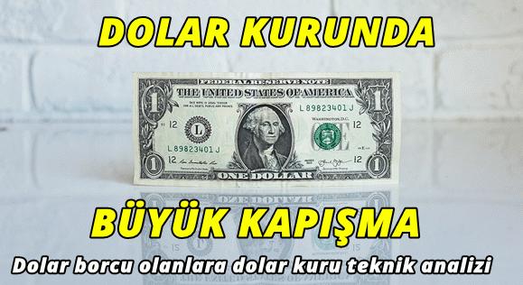 Dolar borcu olanlara teknik dolar kuru analizi! Dolarda büyük kapışma