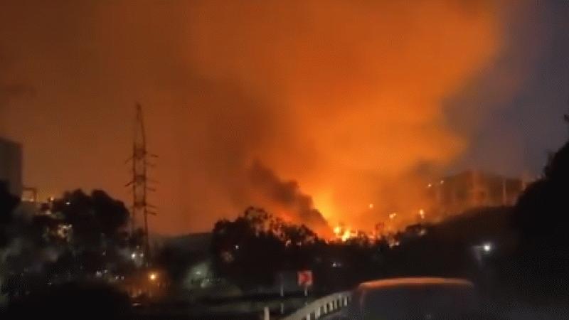 Son dakika: Alevler termik santrale girdi