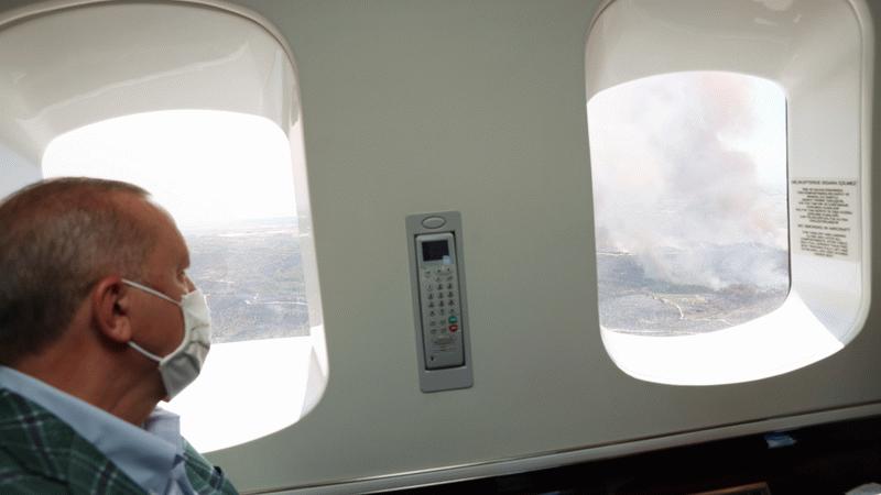 Times'tan yangın yorumu! Erdoğan Türkiye'nin yanışını uzaktan izliyor