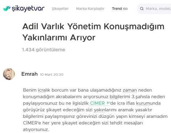 AKP'li Yazıcı'nın 'Adil Varlık Yönetim' şirketine şikayet yağıyor