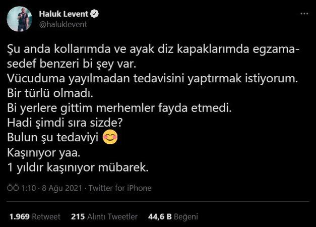 Haluk Levent bu sefer kendisi için yardım istedi: Şimdi sıra sizde...