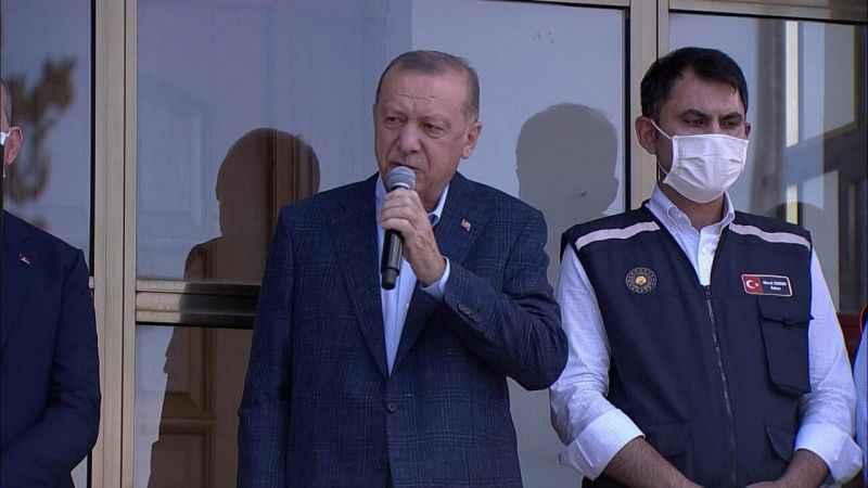 Erdoğan'ın sel gündemi: Artık düz değil kemerli köprü yapacağız