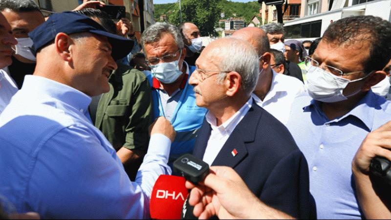 Kılıçdaroğlu ile Soylu yan yana: Afet bölgesinde dikkat çeken görüşme