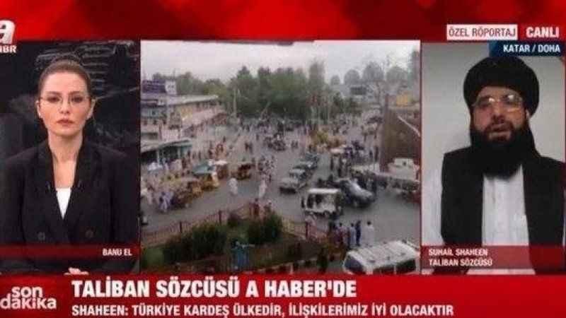 Taliban sözcüsü canlı yayına katıldı! Dikkat çeken Türkiye açıklaması