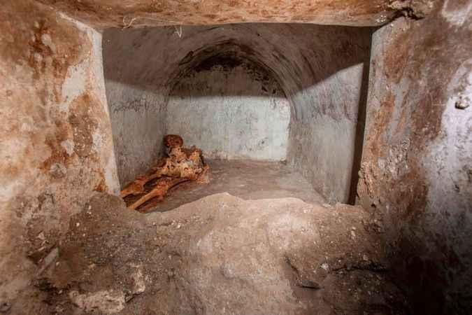Pompeii'de en iyi korunmuş' insan kalıntısı bulundu