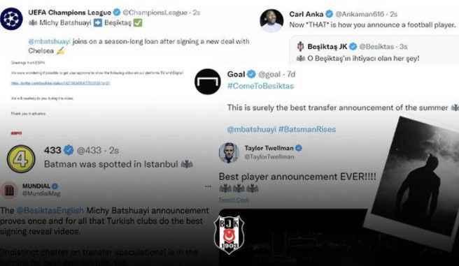 Beşiktaş'ın Michy Batshuayi paylaşımı büyük beğeni topladı